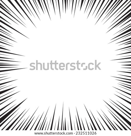 Comic speed radial background - stock vector
