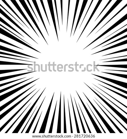 Comic speed radial background - stock vector