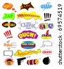 Comic symbols. Vector - stock vector