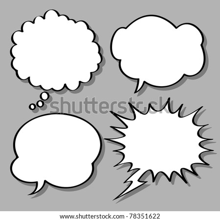 comical bubble speech - stock vector