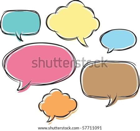 comical bubble talk - stock vector