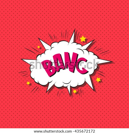 Comics boom backgrounds. Bang. Hand drawn vector illustration - stock vector