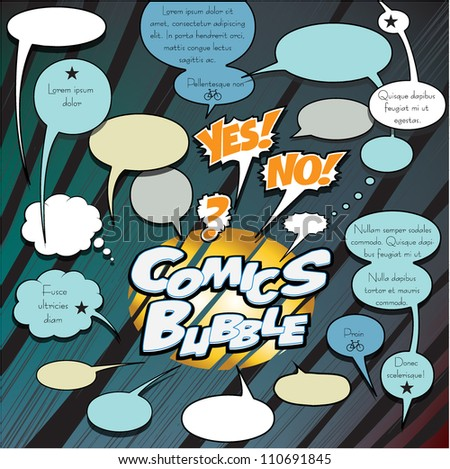 Comics dialog bubbles
