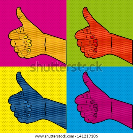 comics ok icons over doted orange background vector illustration   - stock vector