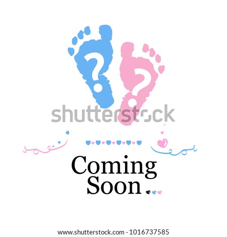 Coming Soon Baby Baby Gender Reveal Stock Vector Hd Royalty Free