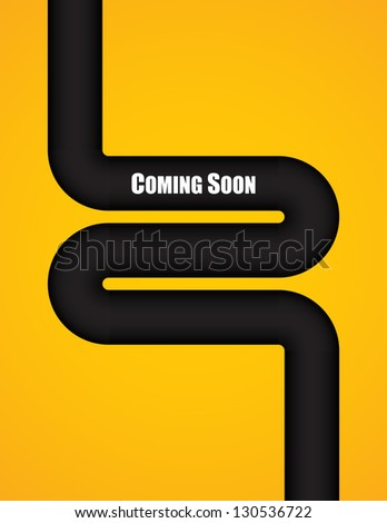 coming soon background with special design - stock vector