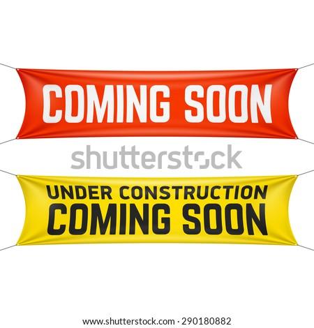 Coming soon banner vector illustration - stock vector
