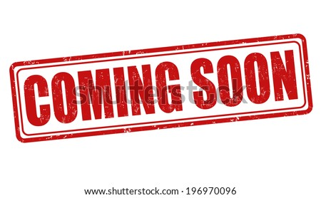 Coming soon grunge rubber stamp on white, vector illustration - stock vector