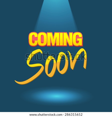 Coming soon logo poster vector