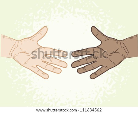 Coming Together - stock vector