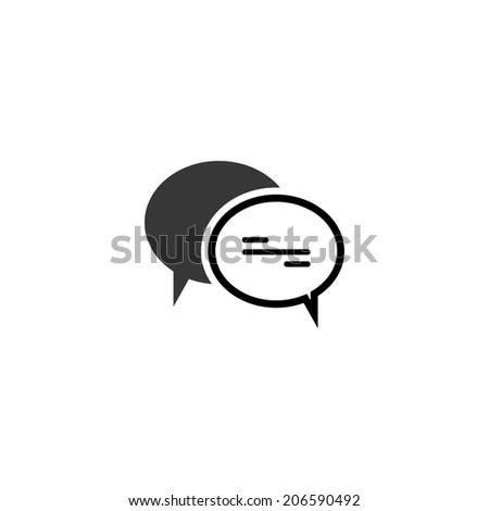 comment speech bubble icon. vector eps8 - stock vector