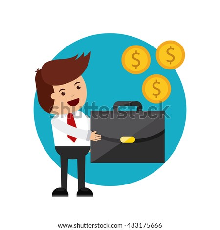 commerce and finance flat icons vector illustration design
