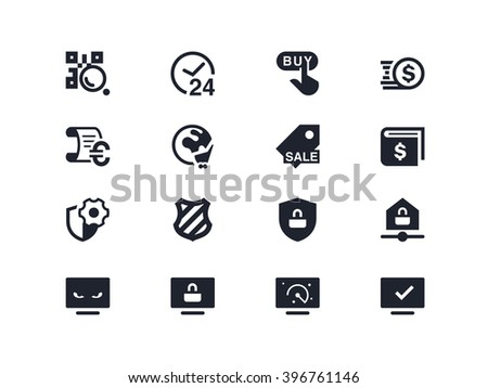 Commerce and security icons. Lyra series