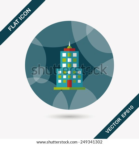 Commercial Building flat icon