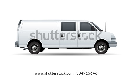 Commercial Delivery / Cargo Truck 3d render isolated on white - stock vector