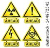 Common Warning signs /Vector/ - stock photo