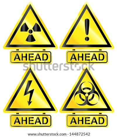 Common Warning signs /Vector/ - stock vector