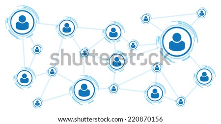 communication background - stock vector