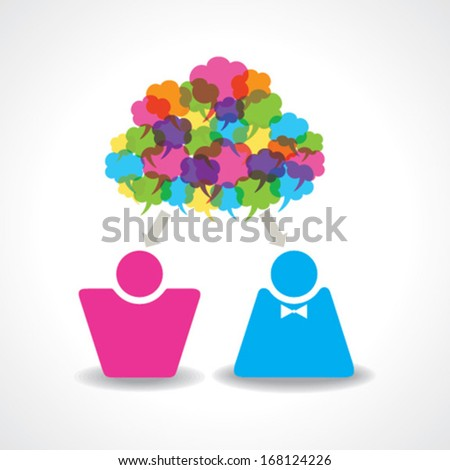 Communication between male and female stock vector