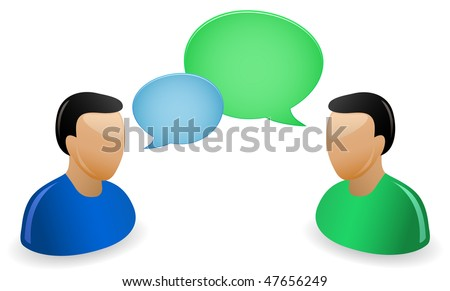 Communication Concept. A bunch of people having a conversations. - stock vector
