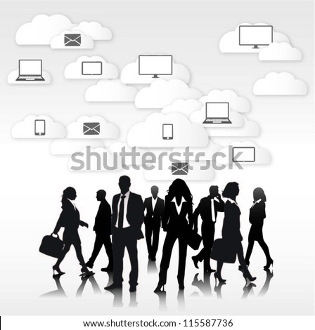 Communication concept design - stock vector