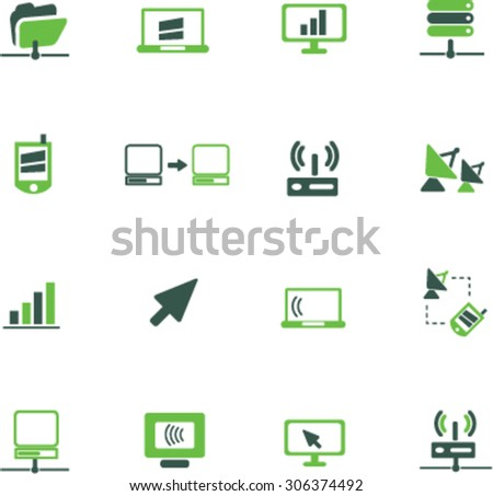 communication, connection icons, signs, illustrations  - stock vector
