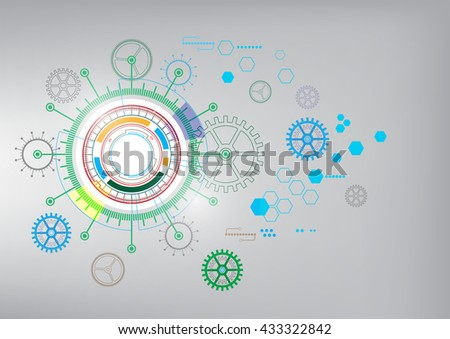 communication digital background, abstract technology vector illustration - stock vector