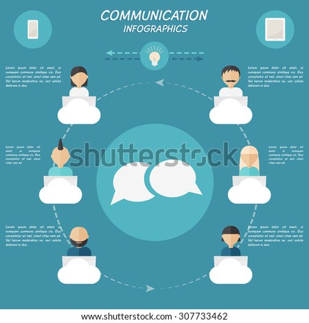 Communication freelance worldwide. Creative modern infographic elements. - stock vector