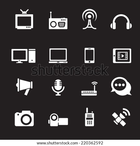 communication icon - stock vector