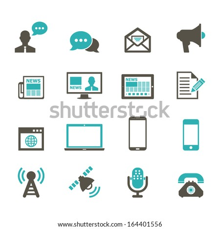 Communication Icon - Color - stock vector