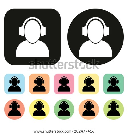 communication icon. vector - stock vector
