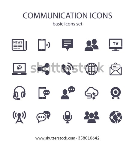 Communication icons. - stock vector