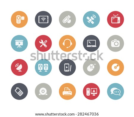 Communication Icons // Classics Series - stock vector