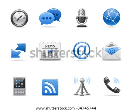 Communication icons for your design - stock vector