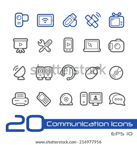Communication Icons // Line Series - stock vector