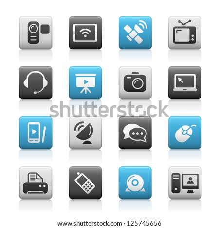 Communication Icons // Matte Series - stock vector