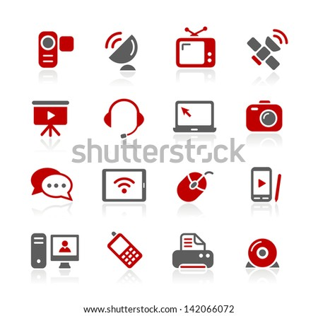 Communication Icons // Redico Series - stock vector