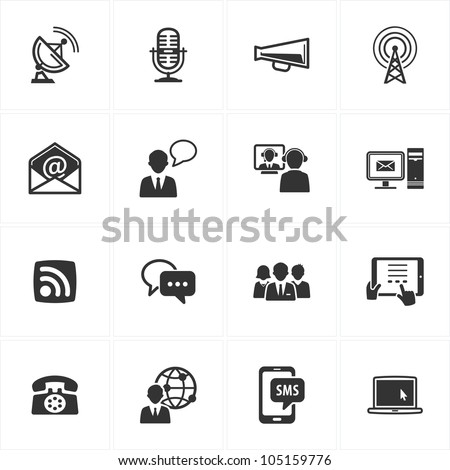 Communication Icons - Set 1 - stock vector