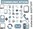 communication icons, signs, vector illustrations - stock photo