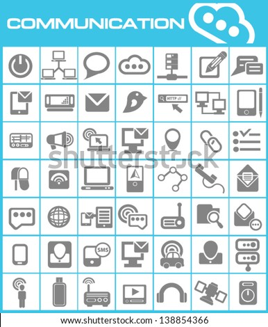 Communication icons,vector - stock vector