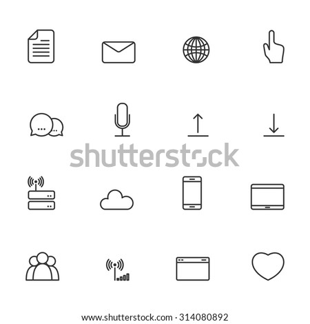 Communication Icons with White Background,Vector EPS10.