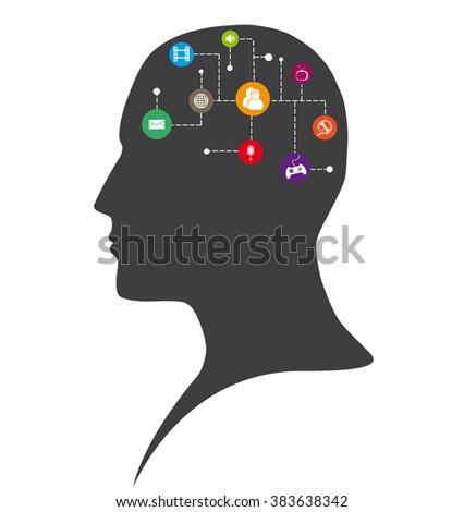Communication - media - stock vector