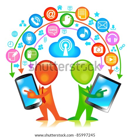 Communication-person. communication concept - stock vector