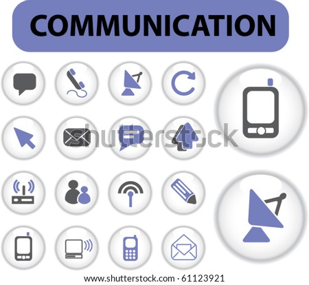 communication professional buttons. vector. see more vector signs in my portfolio - stock vector