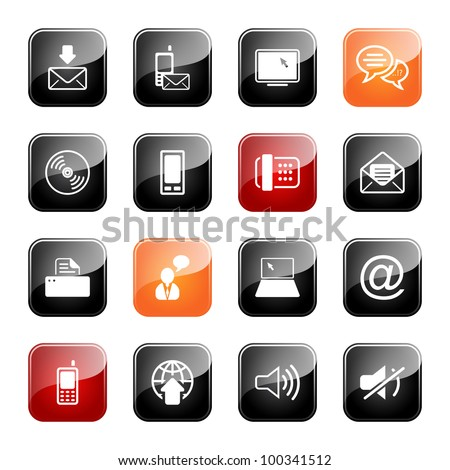 Communication - professional icons for your website, application, or presentation,eps10 - stock vector