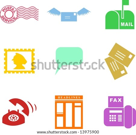 communication shapes - stock vector