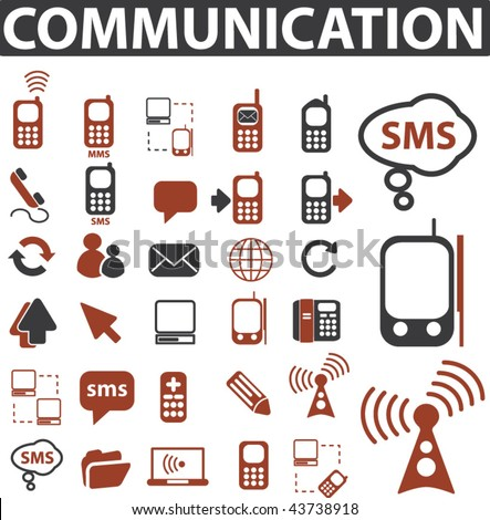 communication signs. vector