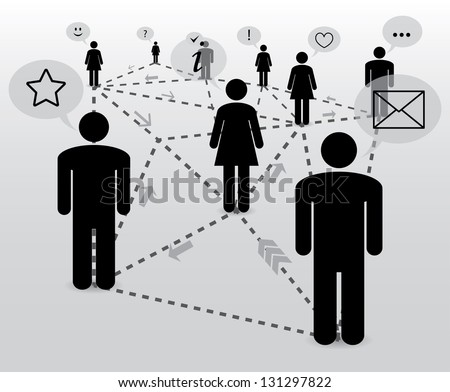 communication. social network. abstract concept. eps10 - stock vector