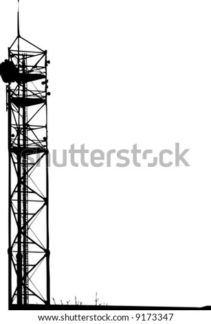 communication tower - stock vector