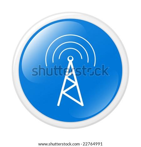 Communication. Vector icon. Button - stock vector